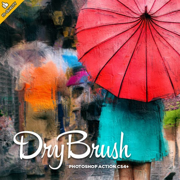 Dry Brush CS6+ Photoshop Action