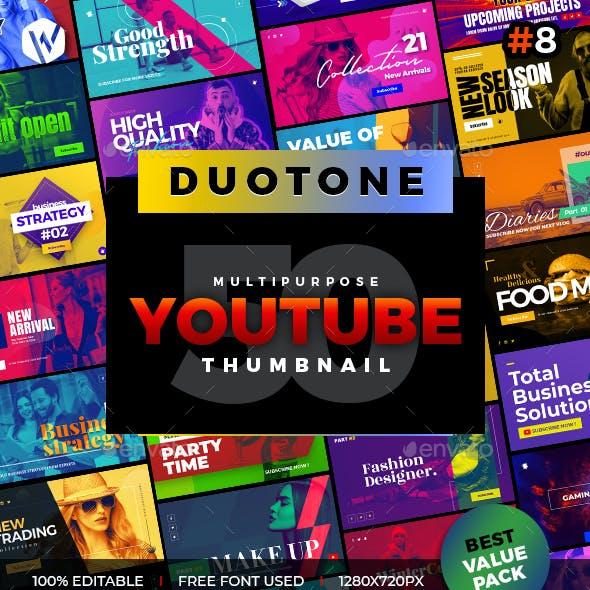 50 Youtube Thumbnail Duotone - V8