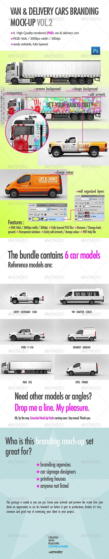 Van & Delivery Cars Branding Mockup Vol. 2 - Vehicle Wraps Print