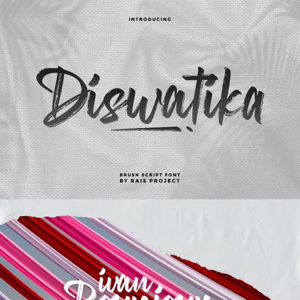 Diswatika Brush Font