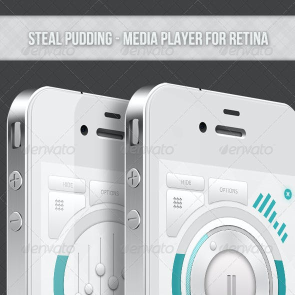 Steal Pudding : Media Player For Retina