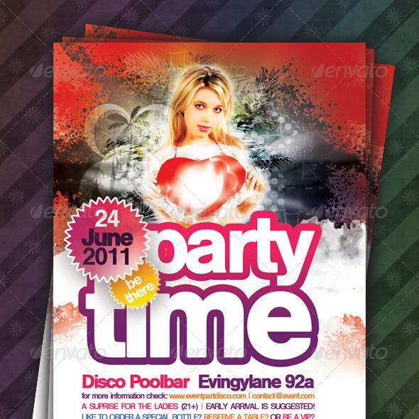 Party Time Flyer (Spring)