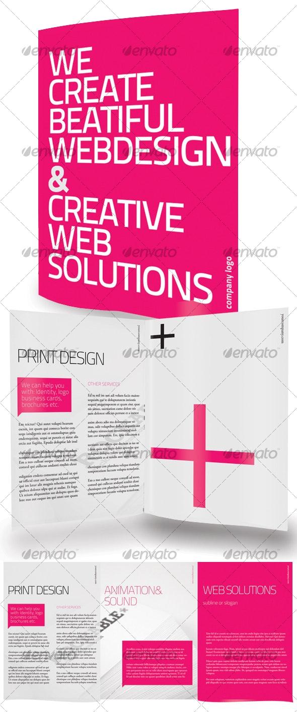 Clean Tri Fold Brochure - Corporate Brochures