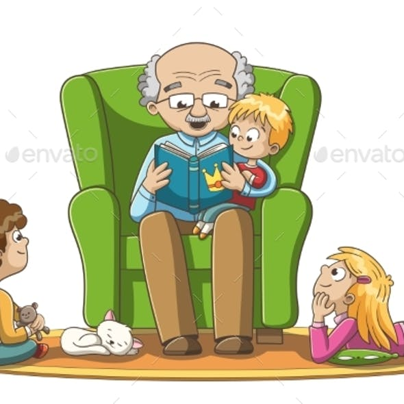 Grandfather Reads Fairy Tales