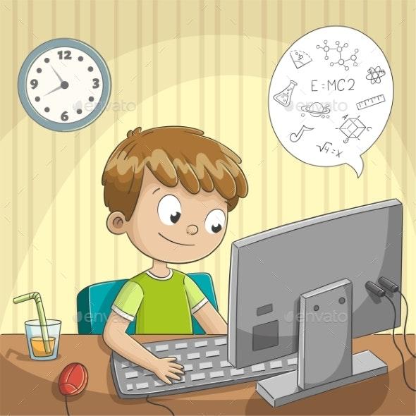 Boy Makes Homeschooling - Computers Technology