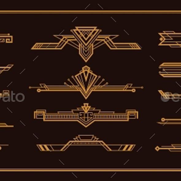 Art Deco Border Set