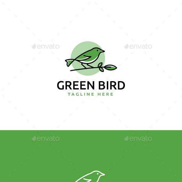Green Bird Logo Template