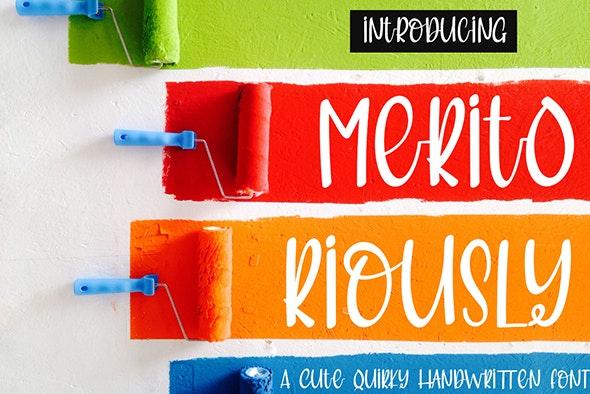 Meritoriously a Cute Quirky Handwritten Font - Comic Decorative