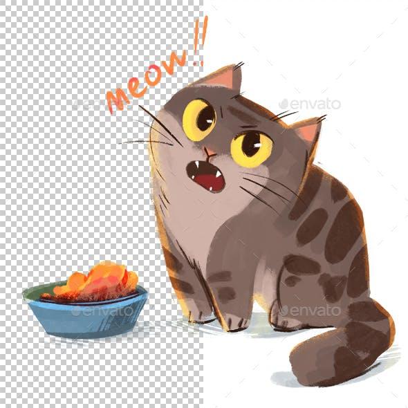 Cat Asks Meal