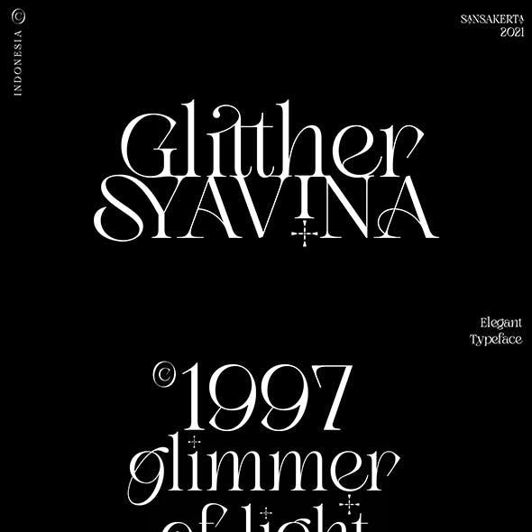 Glitther Syavina Typeface
