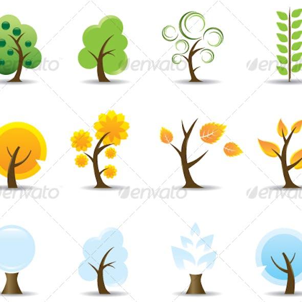 Four Seasons Tree Icon