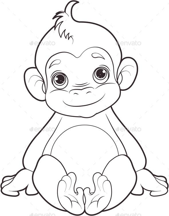 Baby monkey - Animals Characters