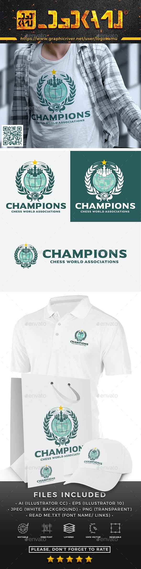 Chess Champions Logo - Symbols Logo Templates