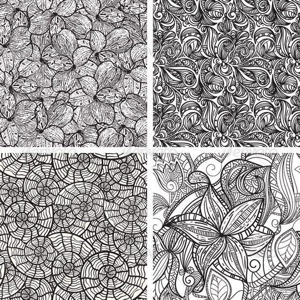 4 Vector Seamless Patterns