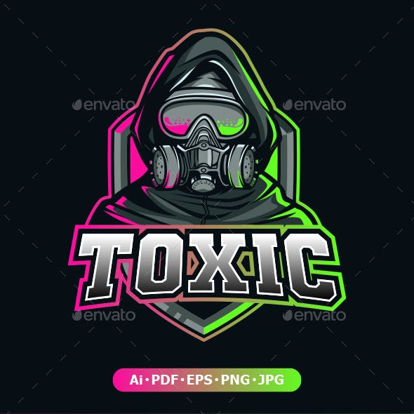 Tocix Gas Mask logo mascot for eSport and Sport