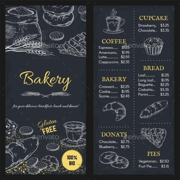 Bakery Menu Mockup