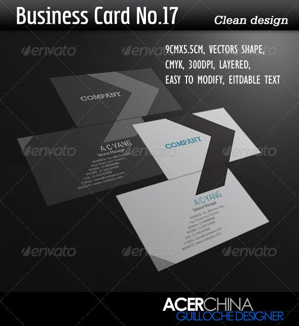 Business Card No.17 - Corporate Business Cards