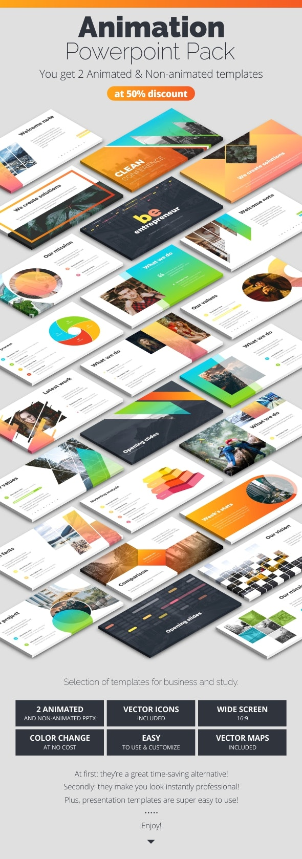 Powerpoint Infographics - Pitch Deck PowerPoint Templates