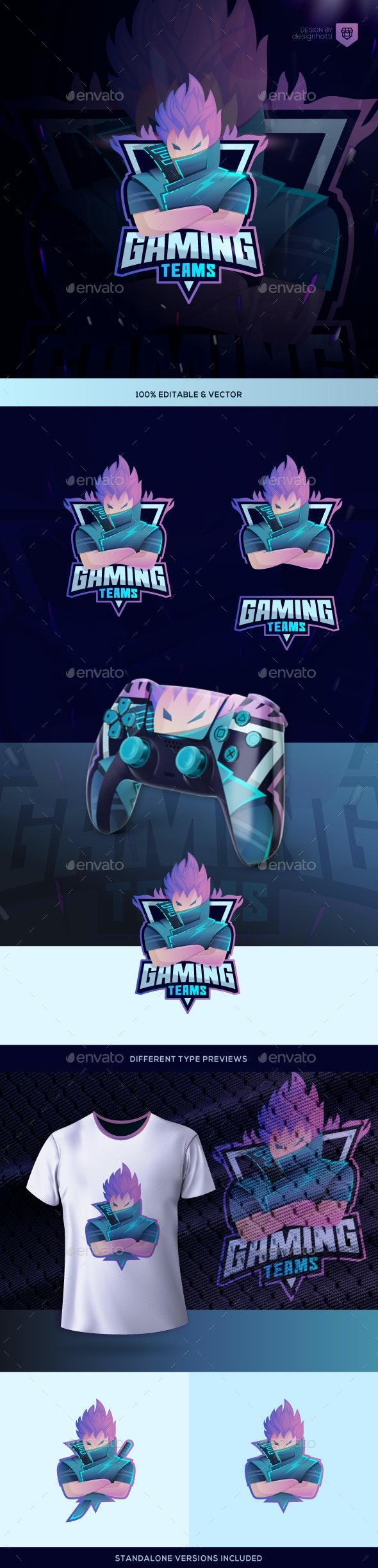 Gaming and Esport Logo - Humans Logo Templates