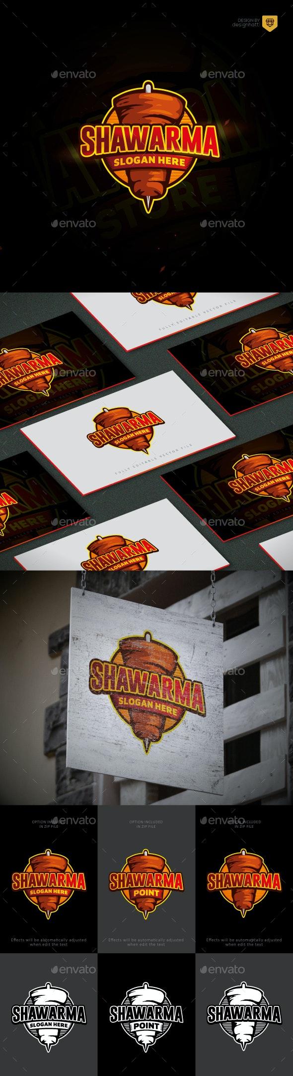 Grill Shawarma Logo - Food Logo Templates
