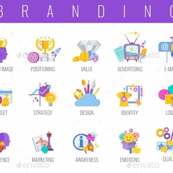 Branding Color Icons Set