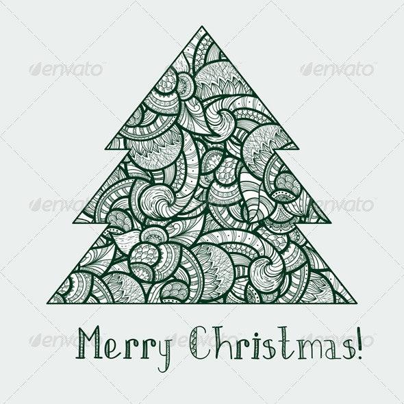 Fir Tree - Christmas Seasons/Holidays