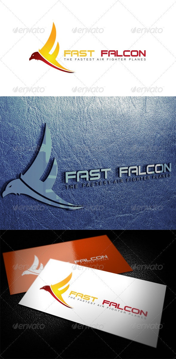 Fast Falcon - Animals Logo Templates