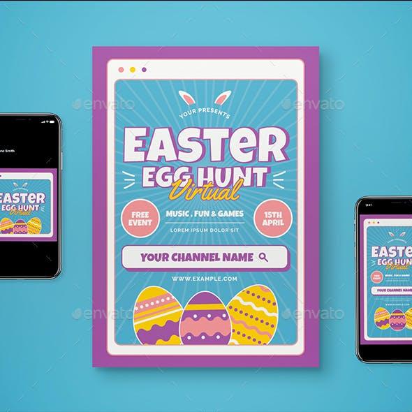 Virtual Easter Flyer Pack
