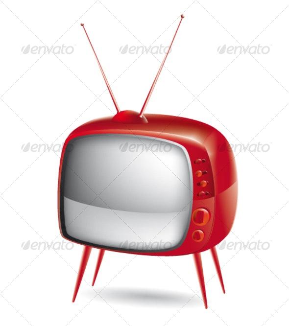 Old tv - Characters Vectors