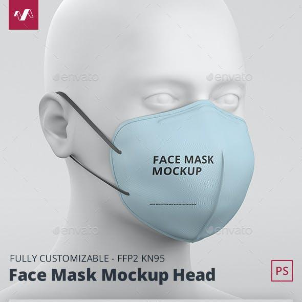Face Mask Mockup FFP2 Head