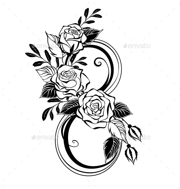 Eight with Contour Roses - Miscellaneous Seasons/Holidays