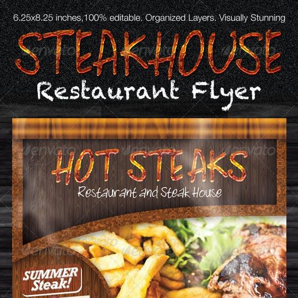 Restaurant Steak House Flyer PSD Template