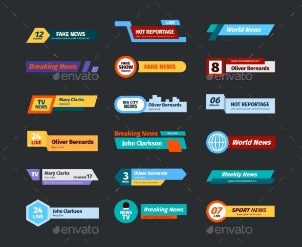 Breaking News Banners - Web Elements Vectors
