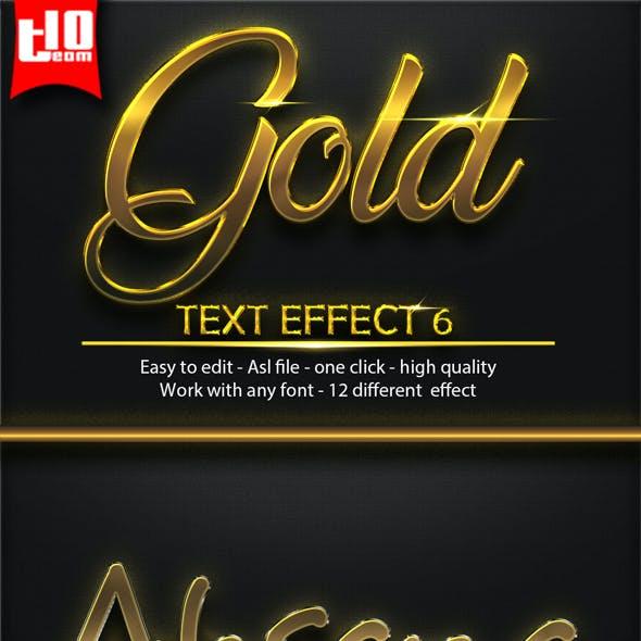 12 Gold Text Effect 6