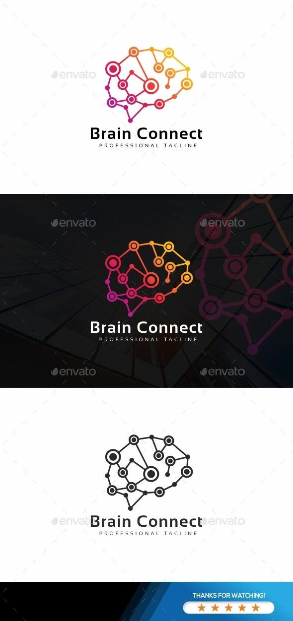 Digital Brain Logo - Abstract Logo Templates