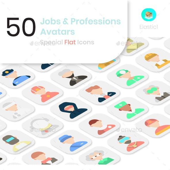 Job and Profession Avatar Flat Icons