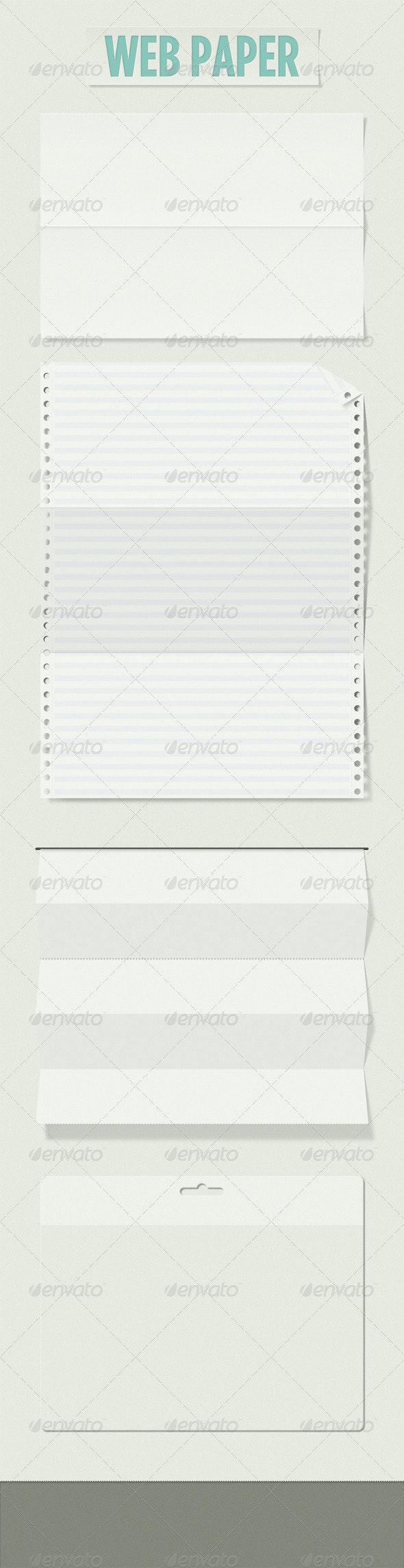 web paper - Miscellaneous Web Elements