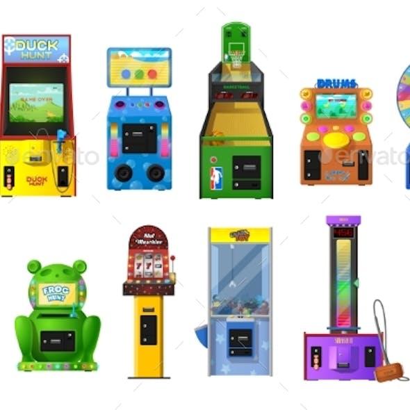 Game Machines of Arcade Video and Casino Slot
