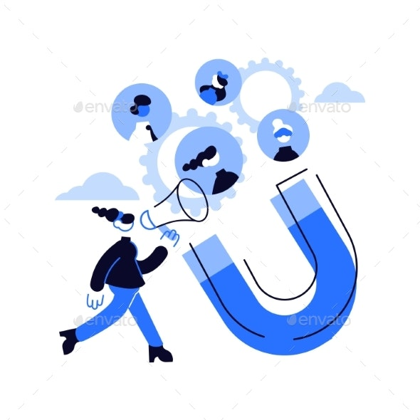 Find Leads Abstract Concept Vector Illustration - Abstract Conceptual