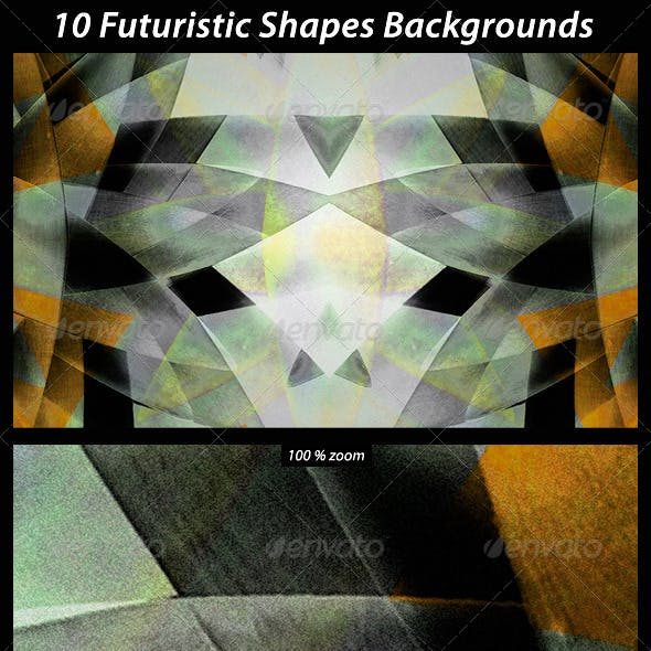 10 Futuristic Shapes Backgrounds