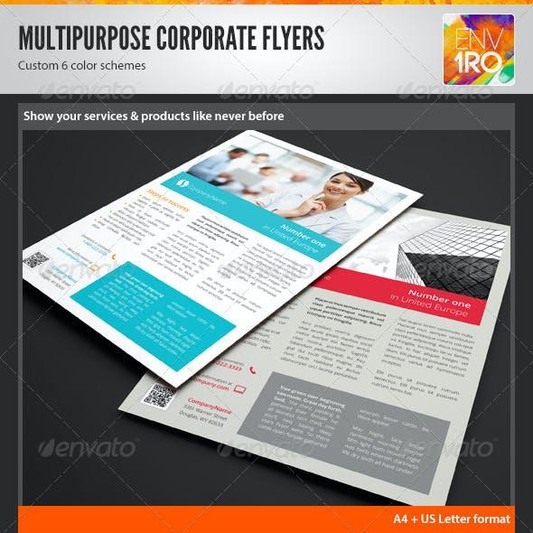 Multipurpose Corporate Flyers, Magazine Ads vol. 7
