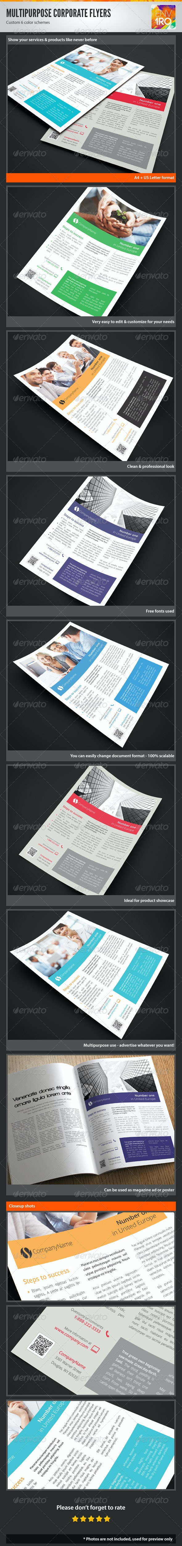 Multipurpose Corporate Flyers, Magazine Ads vol. 7 - Corporate Flyers