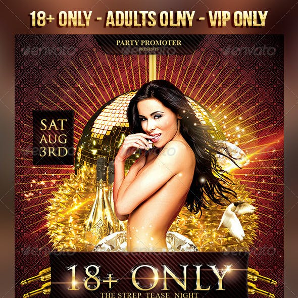 18+ Only Flyer Template