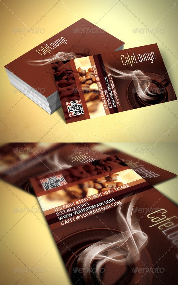 Caffe Business Card - Industry Specific Business Cards
