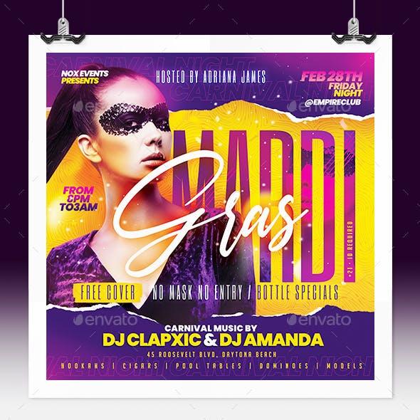 Mardi Gras - Carnival Party Flyer