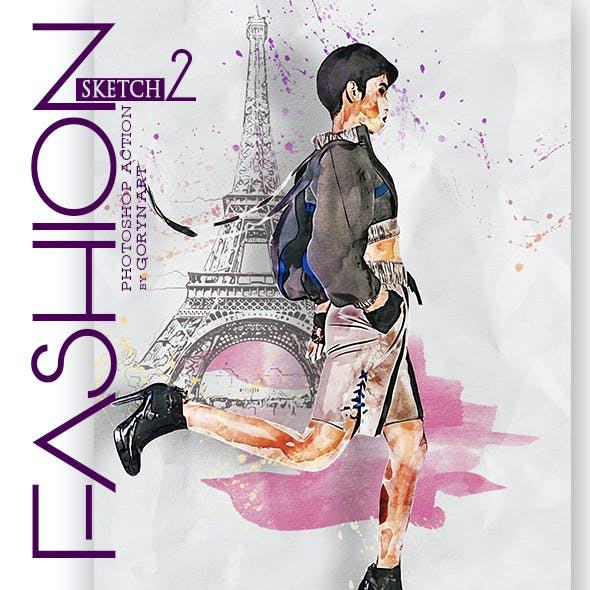 Fashion Sketch 2 Photoshop Action