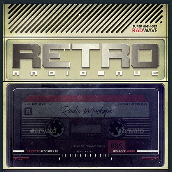 Retrowave Flyer 1980s Music Radio Synthwave