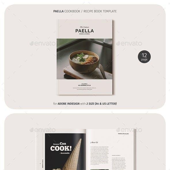 Paella Cookbook Template