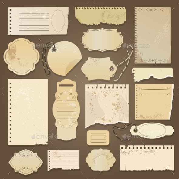 Scrapbooking Ripped Old Papers - Backgrounds Decorative