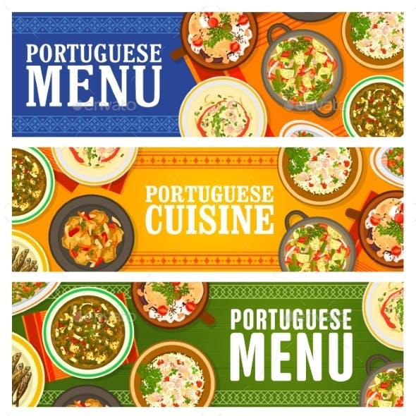 Portuguese Food Restaurant Menu Meals Banners